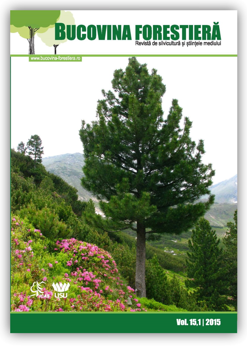 Bucovina Forestieră Vol. 15(1) 2015